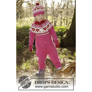Warmhearted by DROPS Design - Knitted Overall Pattern size 12/18 months - 5/6 years
