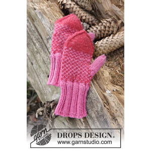 Warmhearted Mittens by DROPS Design - Knitted Mittens Pattern size 12/18 months - 5/6 years