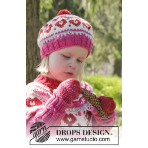 Warmhearted Hat by DROPS Design - Hat Pattern size 12/24 months - 3/6 years