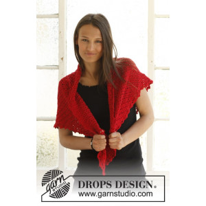 Holly's Holiday by DROPS Design - Shawl Crochet Kit 65 cm