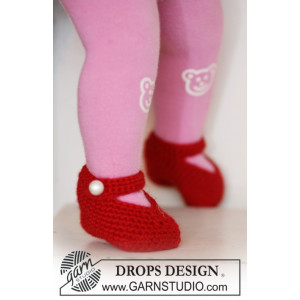 Rosy Toes by DROPS Design - Crochet Baby and Children Slippers Pattern size 1/3 months - 3/4 years