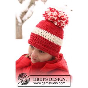 Denmark by DROPS Design - Crochet Hat Pattern size 3/5 years - Voksen