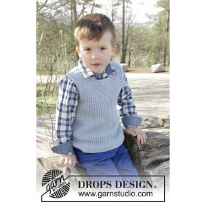 Vest is Best! by DROPS Design - Knitted Vest with Textured Pattern size 2 - 11/12 years