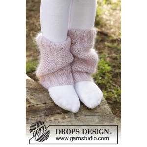 Watermelon Smoothie by DROPS Design - Knitted Leg Warmers in Garter Stitch Pattern size 3/5 - 9/12 years