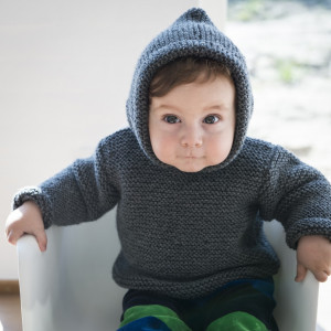 Mayflower Baby Anorak - Knitted Jumper Pattern size 6 months - 4 years