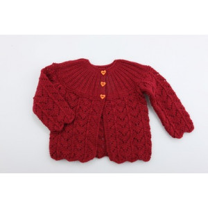 Mayflower Cardigan - Knitted Jacket with Lace Pattern size 6 months - 2/3 years