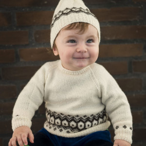 Mayflower Sweater with Texture - Knitted Sweater with Textured Pattern size 3/6 months - 24 months