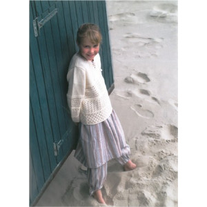 Mayflower Tunic for Kids with Lace - Knitted Tunic with Lace Pattern size 2 years - 12/14 years