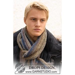 Adam by DROPS Design - Knitted Men's Scarf in Garter Stitch Pattern 150x22 cm