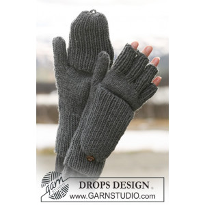 Convertible Gloves by DROPS Design - Knitted Convertible Gloves Pattern size S/M - L/XL