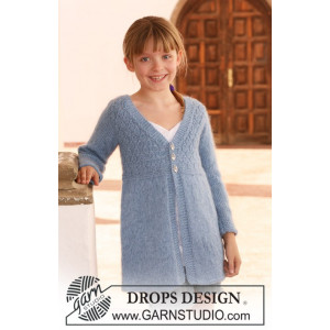 Little Emma by DROPS Design - Knitted Jacket with Long Sleeves Pattern size 7/8 years - 13/14 years