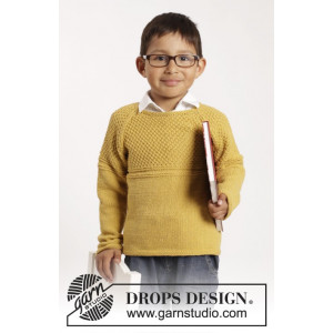 Clever Clark by DROPS Design - Knitted Jumper with Textured Pattern size 12/18 months - 9/10 years