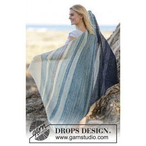 Under The Sea by DROPS Design - Knitted Blanket in Garter Stitch with Stripes Pattern 135x85 cm