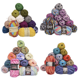 Yarn with colour shades