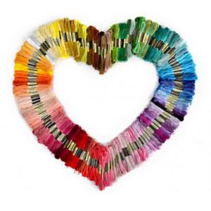 Infinity Hearts Embroidery Yarn